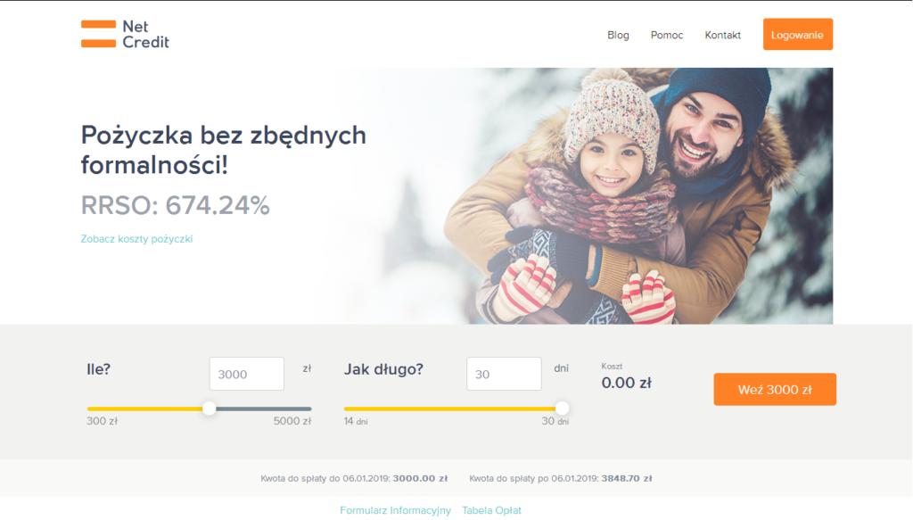 Strona NetCredit