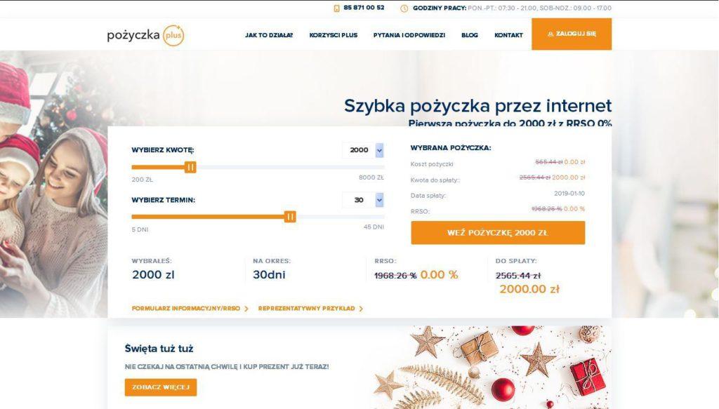 Strona Pożyczka Plus