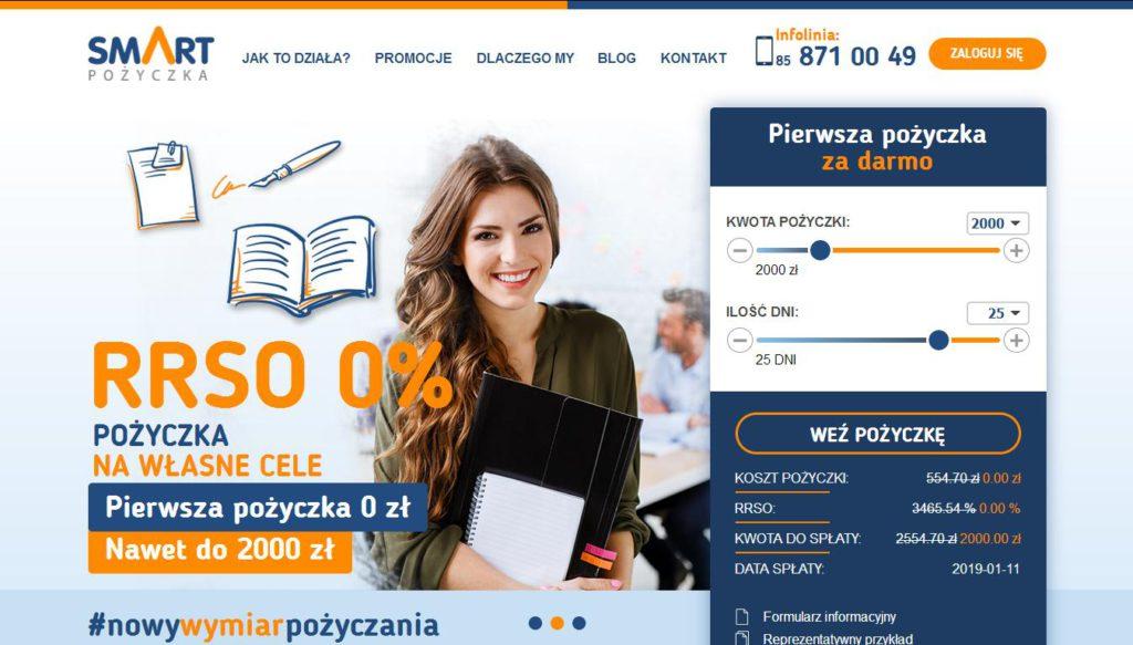 Strona Smart Pożyczka